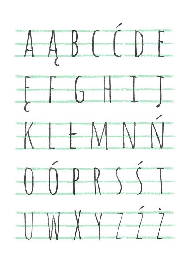 alfabet polski do pokoju dziecięcego a3 dziecko