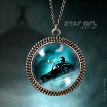 Star Girl Kiwi Szybka Jazda, romantyczny medalion