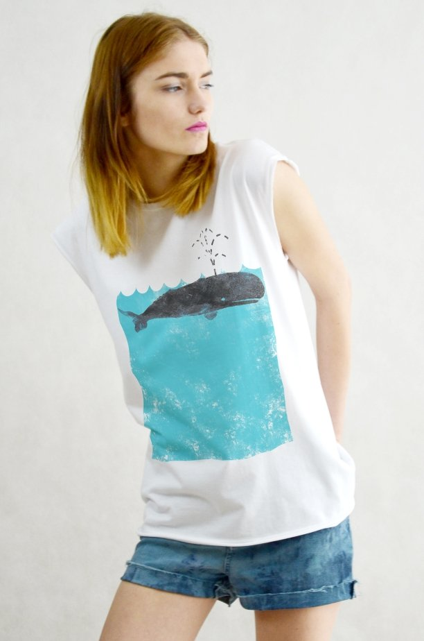 WHALE TOP Oversize T-shirt