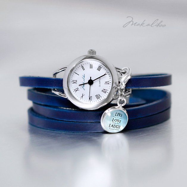 Zegarek - Live-Love-Laugh - blue