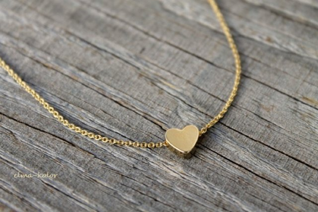 Golden small heart