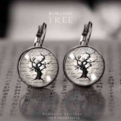 Romantic tree, dark silver