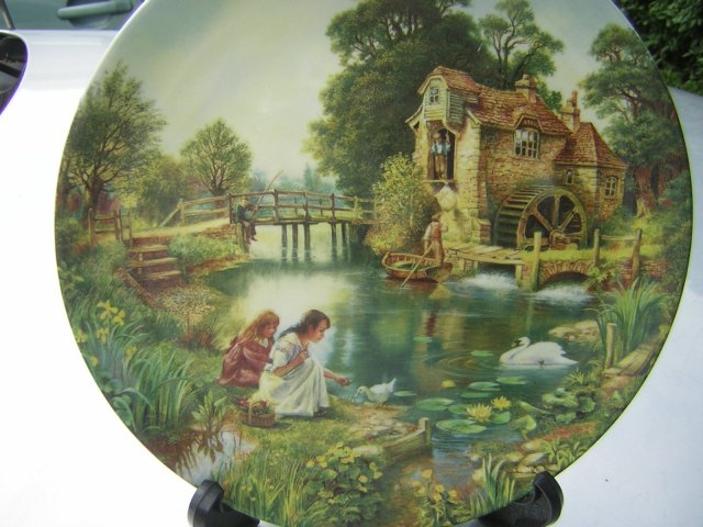 "wedgwood  ""GONE FISHING"" - ""The Mill Stream     "" by Graham Twyford"