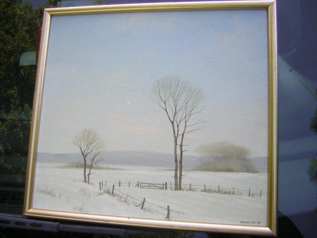 oryginał olejny obraz Michael Hill 1979