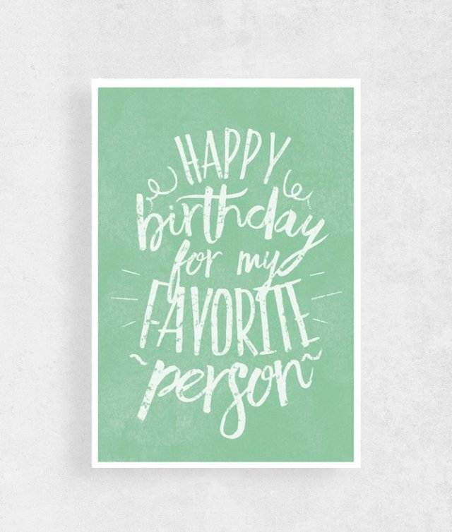 Kartka urodzinowa| A5 |Happy birthday For My ...