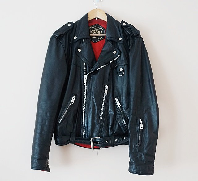 *VINTAGE* Petroff Paris Biker Leather Jacket