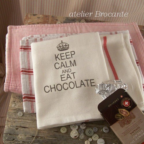 Ściereczka kuchenna -  Keep Calm and Eat Chocolate