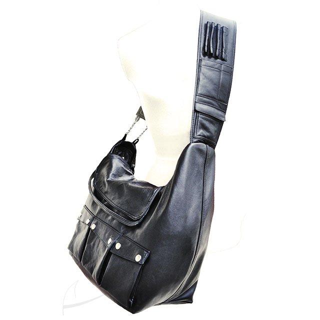 Skórzana torba z kieszeniami