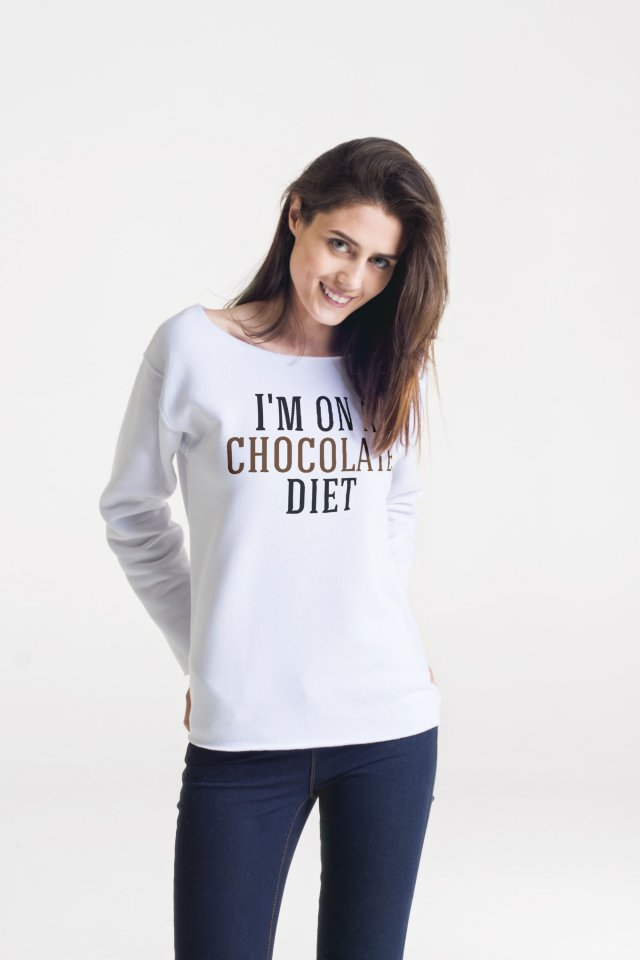 CHOCOLATE DIET Bluza Oversize