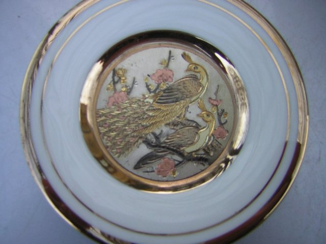 The Art of Chokin 24 KT Gold made in japan kolekcjonerski talerzyk porcelanowy