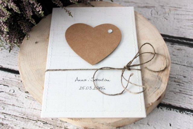 Eko Serce Zaproszenia ślubne święta I Okazje Decobazaar