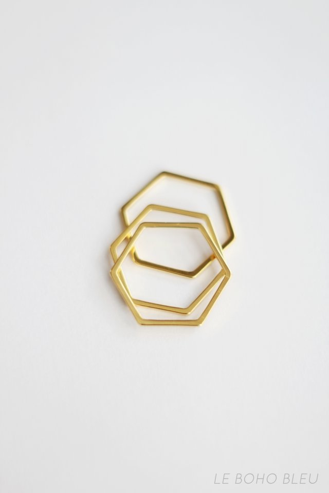 16k Gold Plated Hexagon Shape Ring