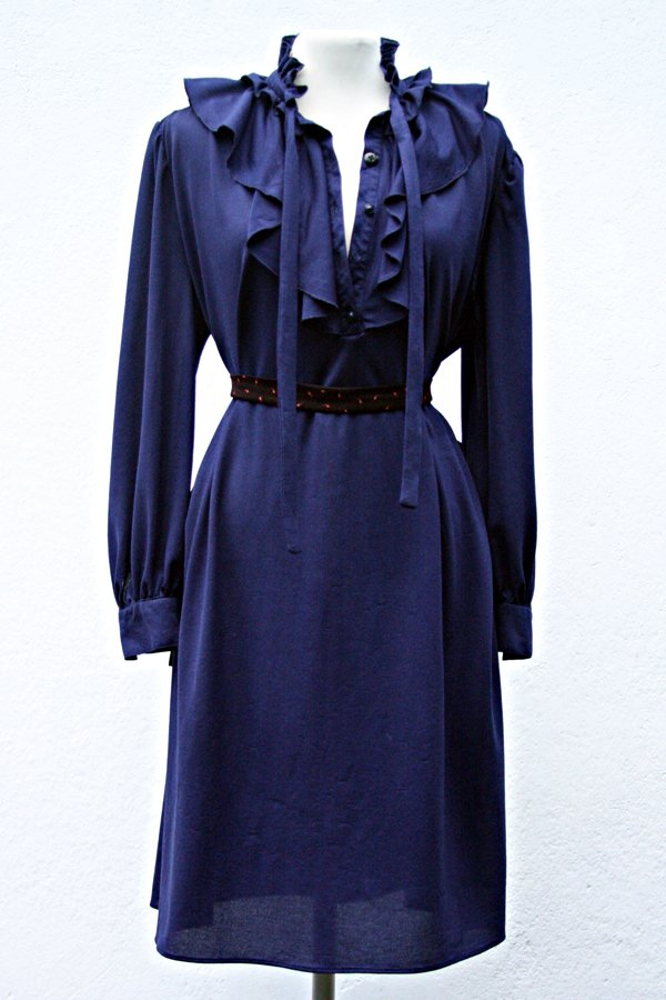 DEEP BLUE VINTAGE DRESS