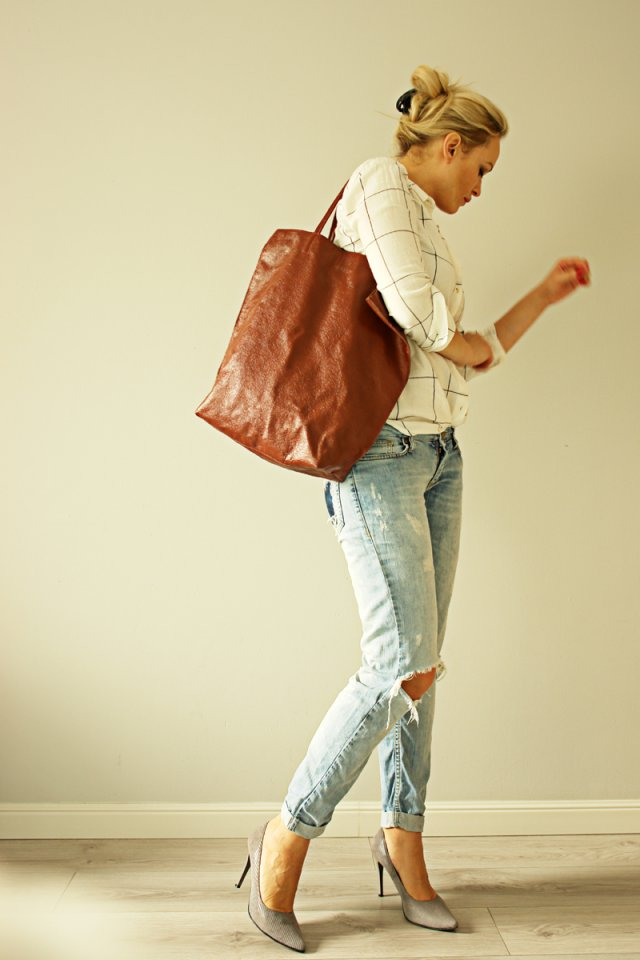 Oversize Tote Brown
