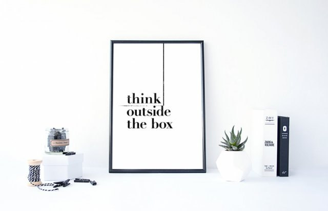 PLAKAT–Think outside the box....A3