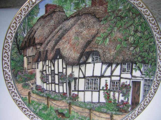 Royal Worcester 1991         Villages Wherwell by SUE SCULLARD