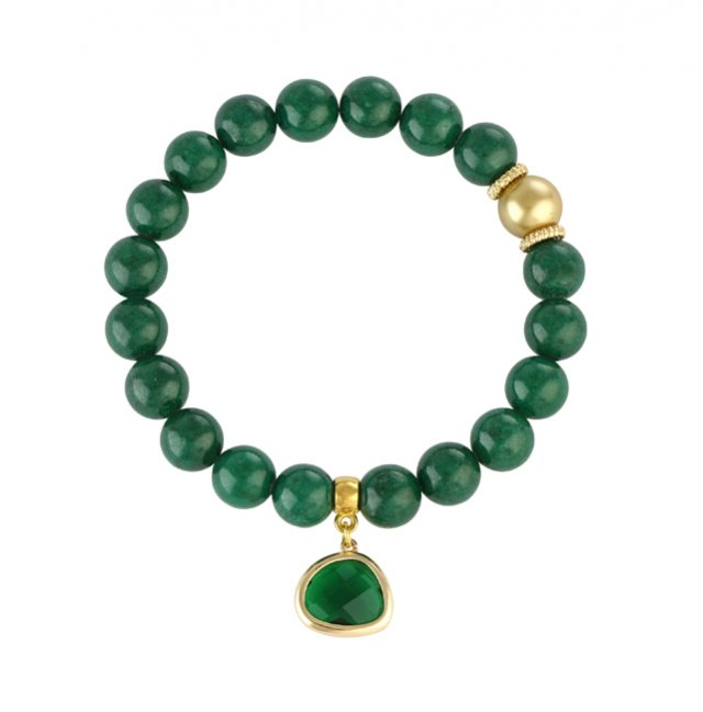 Green jade with crystal.