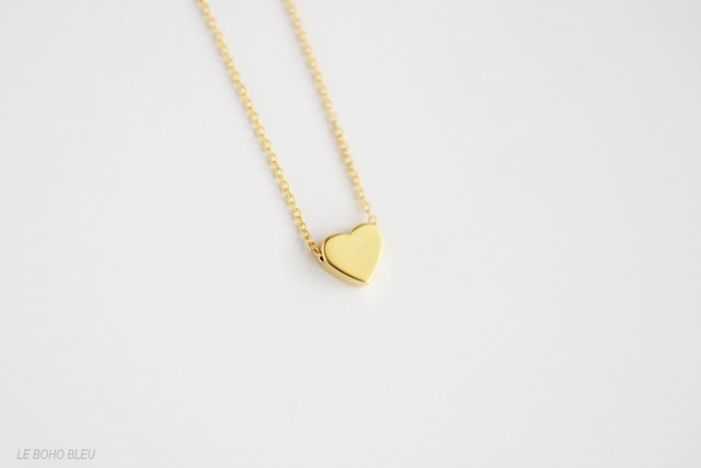 16k Gold Plated Matt Heart Necklace