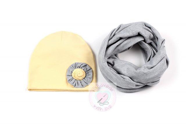 czapka i komin wiosenny