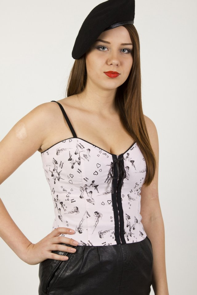 SALE Pin-Up corset M
