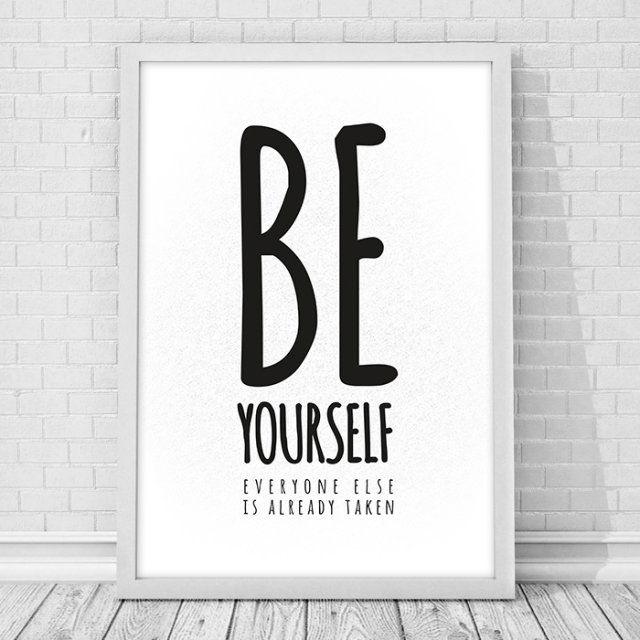 PLAKAT A3 Be yourself