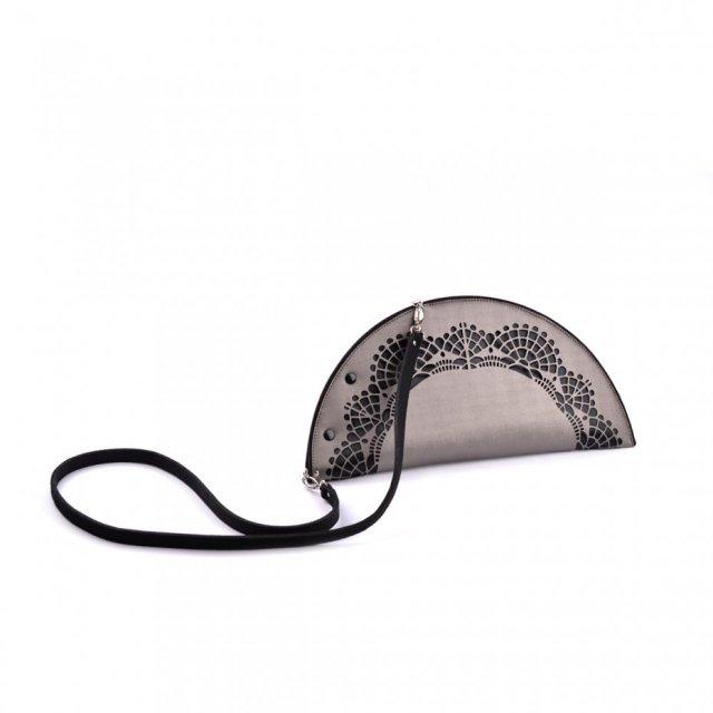 metaliczna torebka-kopertówka MetallicLaceCradle