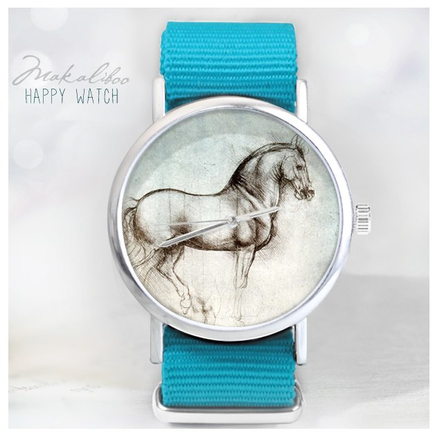 12 % OFF Horse - Vinci - Makaliboo Art Watch + Ball