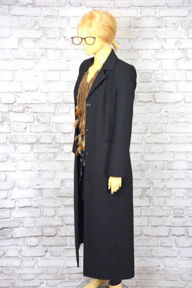 ec6007ccc955f DŁUGA CZARNA MARYNARKA - Ubrania vintage - DecoBazaar