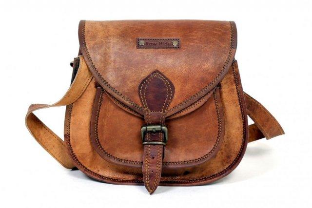 """TRH1. Skórzana torebka damska na ramię ROWHIDE VINTAGE™ Rozmiar 9"""""""
