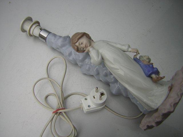 NAO LLADRO DAISA 1997 hand made  duża  LAMPA FIGURKA POCELANOWA