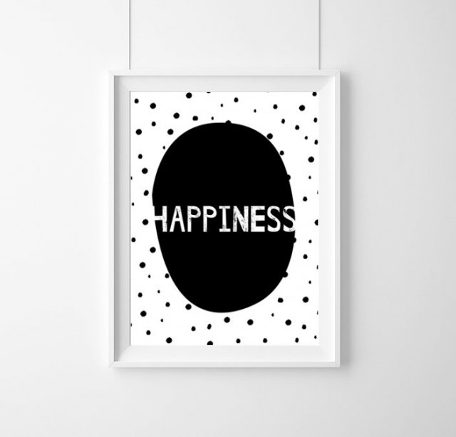 PLAKAT - HAPPINESS- A3