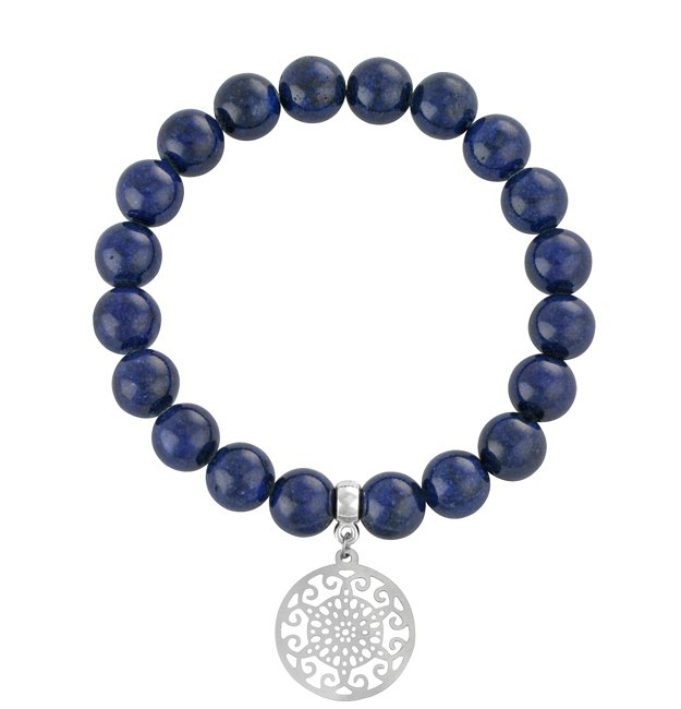 EARTH ENERGY - Navy blue jade with mandala.