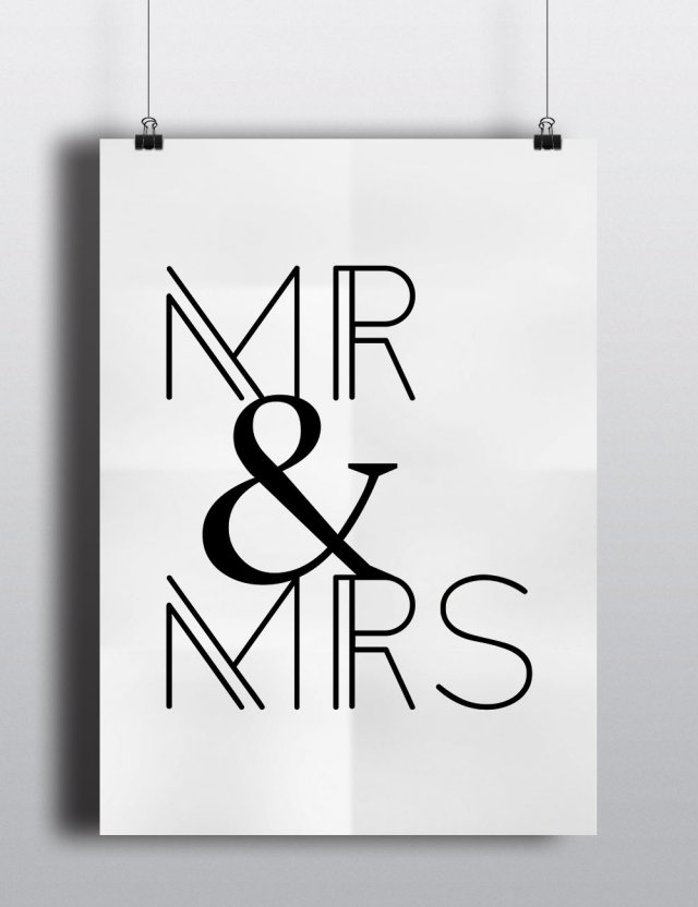 "Plakat A3 ""MR & MRS"""