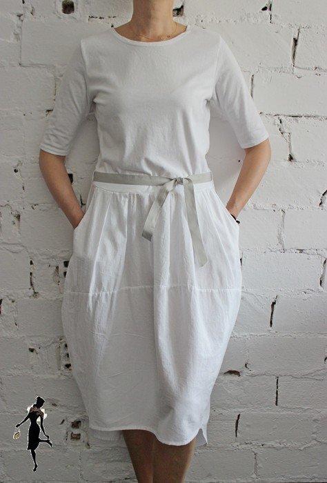 Sukienka z kieszeniami Made in Italy rozmiar uniwersalny
