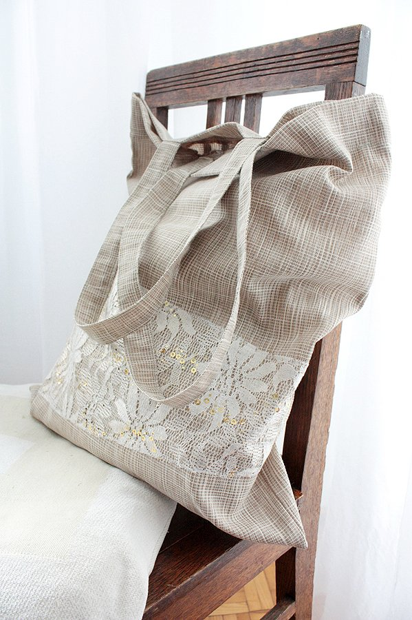 Elegancka shopping bag handmade Assembleage