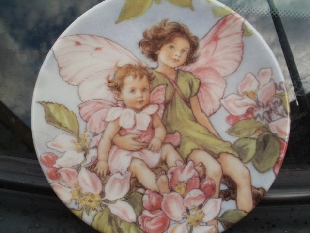 Royal Worcester 2000 flowers fairies by CICELY barker the apple blossom fairies