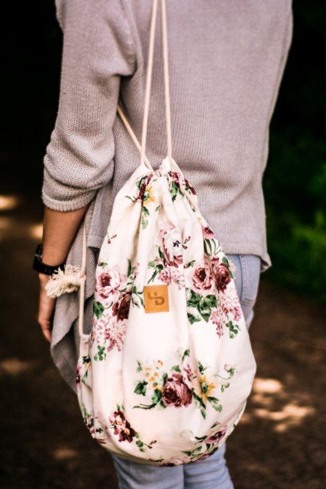 Kwiecisty plecak - Lootbag classic / flowers