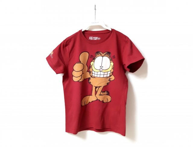 Reserved kids t-shirt Garfield bordowa 164 cm 13-14 lat