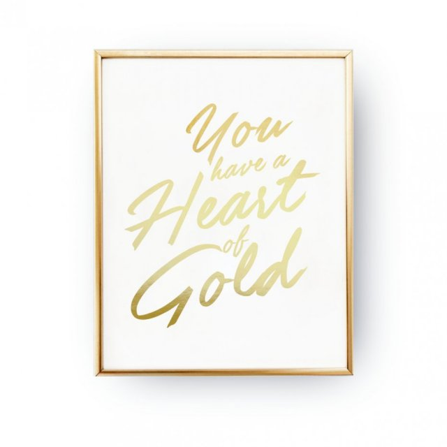 HEART OF GOLD, ZŁOTA TYPOGRAFIA
