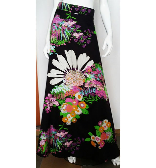 Bardzo dobra 8/36 Długa spódnica w kwiaty - Ubrania vintage - DecoBazaar NU43