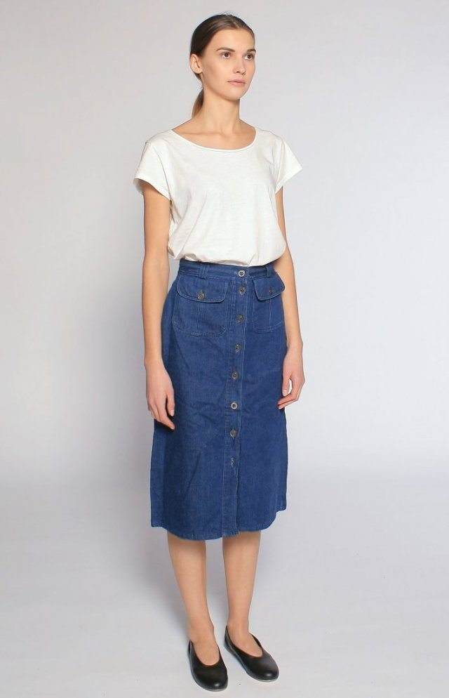 Denim 70's Skirt