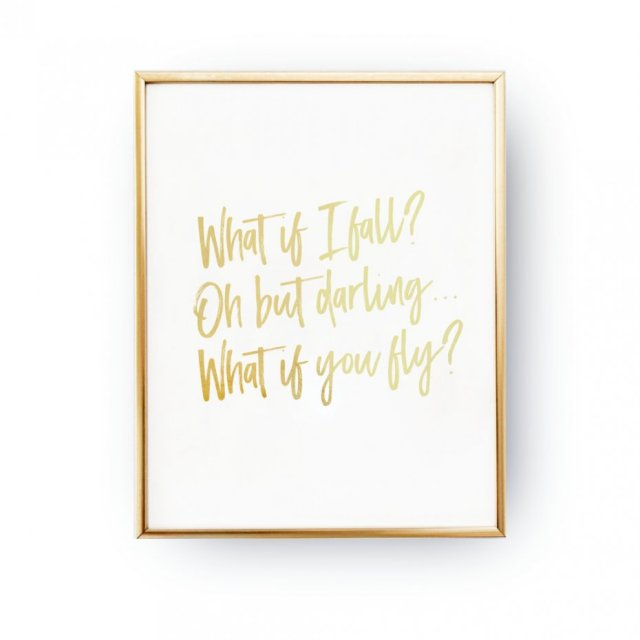 WHAT IF I FALL, ZŁOTA TYPOGRAFIA