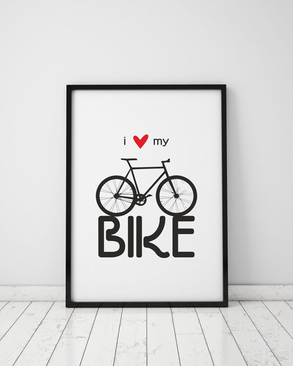 plakat. i love my bike (format A3)