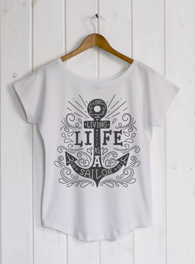 Sailor anchor white/grey