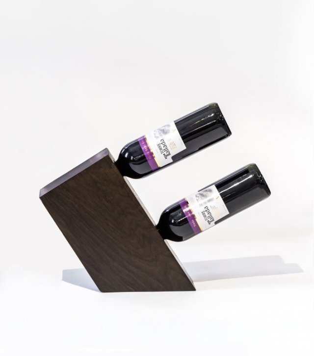 Stojak na wino TRAPEZ (2 wina)