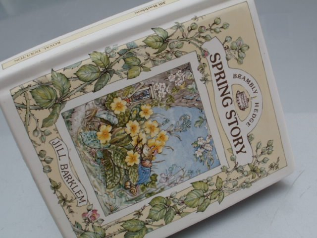 Royal doulton 1989 spring savings book brambly HEDGE by Jill Barklem   kolekcjonerska duża  skarbonka