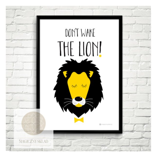 "Plakat ""Don't wake the lion"" 50x70"