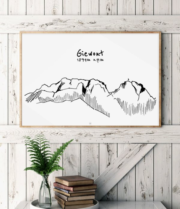 "Ilustracja A3 ""Giewont"""