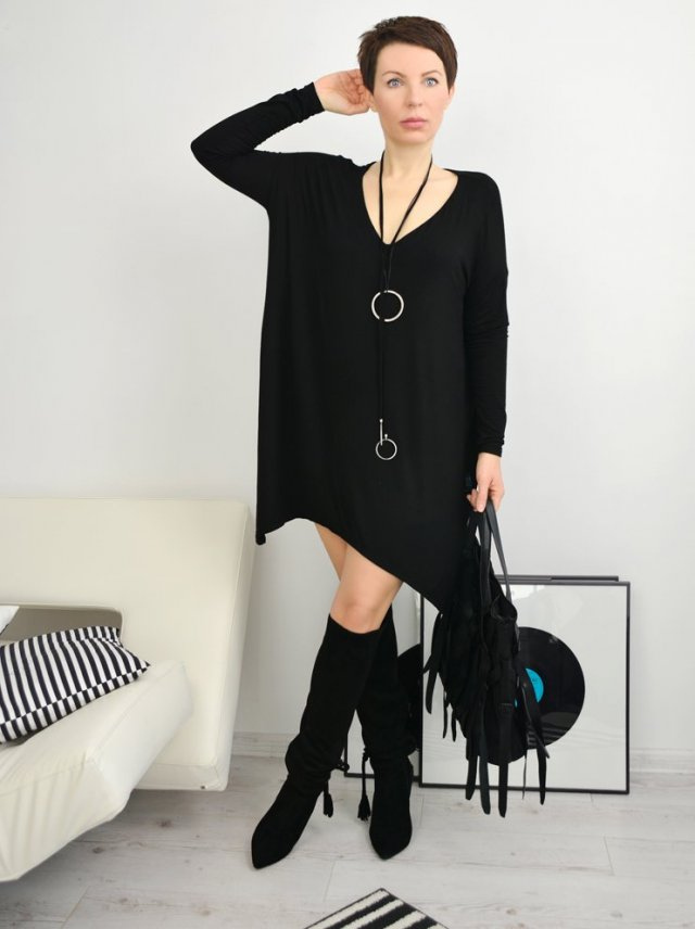 TUNIKA BLACK OVERSIZE by momo