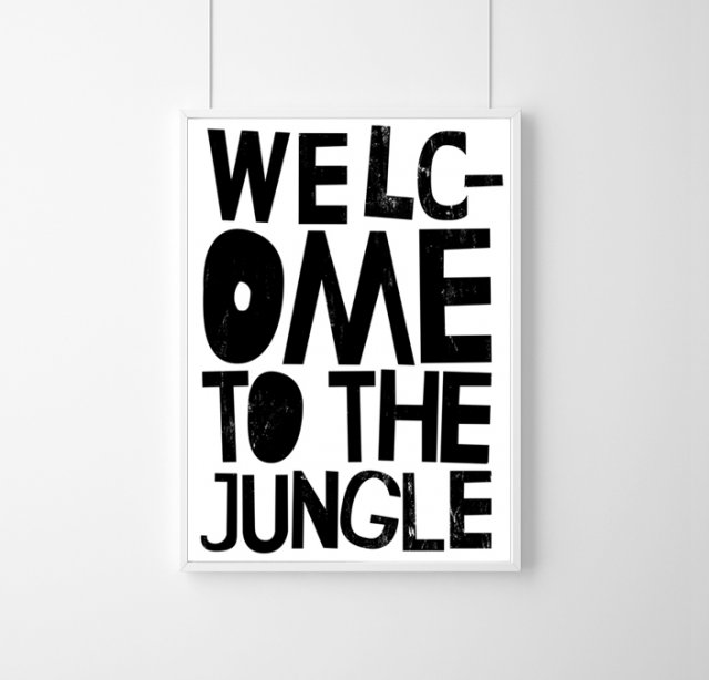PLAKAT - WELCOME TO THE JUNGLE - A3